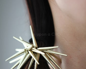 Spikey Spike Hair Tie for 2021 | gold or silver finish | punk ponytail | 2021 hair accessory trend