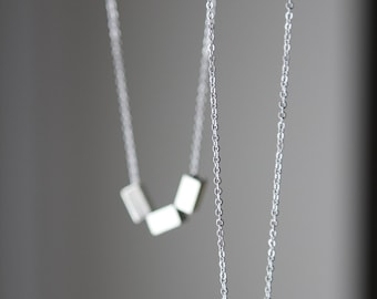 Modern simple Cube Necklace Pendant SALE**