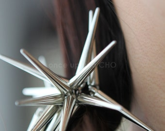 Spikey Spike Hair Tie in silver or gold finish | statement hair jewelry
