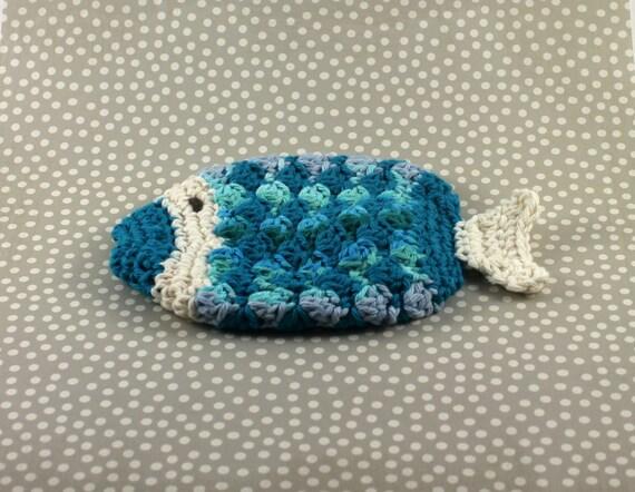 Häkeln Baumwolle Fisch struppig Fisch Waschlappen häkeln   Etsy