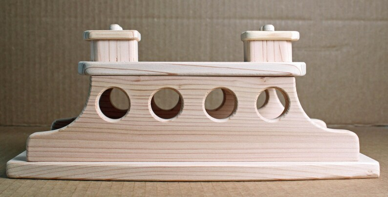 Handcrafted Wood Ferry Boat 118 203 204 205 206 207-208 image 0