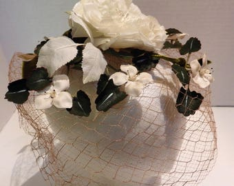 crafts. Vintage 4 WineRaspberry millinery Silk rose for hats dress pin fascinators corsages
