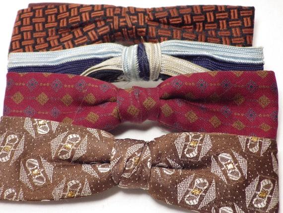 1950s Vintage Bow Tie Wardrobe (4) Clip-on Pre-tie