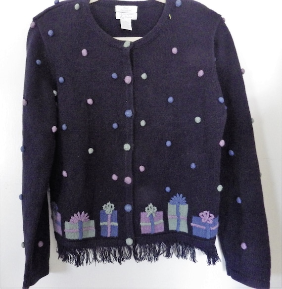 Vintage Christopher & Banks Cardigan Sweater Hand… - image 1