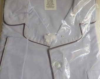 1980s Vintage Mens Pajamas L Botany 500 New in Package Made in USA Blue Permanent Press