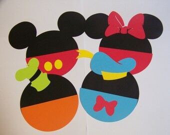 8 Disney clubhouse die cuts 5 inches