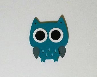 4 Owl die cuts - 6 inches tall