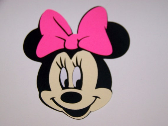 10 Minnie Mouse Face 4 Inch Die Cuts Etsy