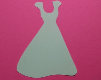 10 Dresseses 5 inch white cardstock