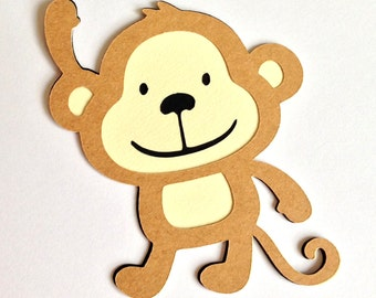 30 Monkey die cuts - 3 inches tall