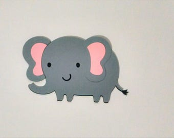 8 Elephant die cuts - 5 inches tall
