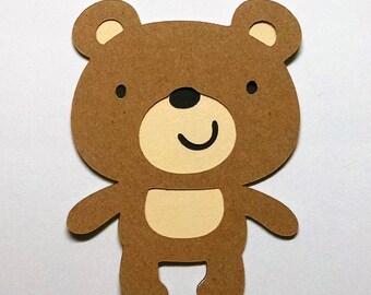 8 Bear die cuts - 4 inches tall