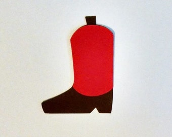12 Boot die cuts - 3 inches tall