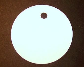 100 white cardstock round tags 2 inches