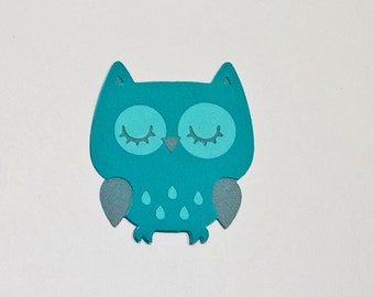 8 Owl die cuts - 5 inches tall