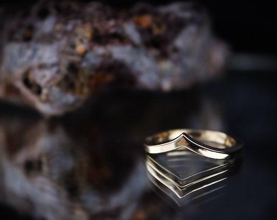 Zenith//14K Gold Band//Engagement//Wedding Ring//Size 6.25