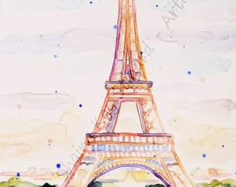 SALE!  50% OFF Custom Watercolor Travel Paintings / 11 x 14 sample / Original art from your photos