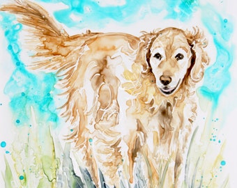 SALE!  50% OFF Watercolor PET portraits / pets / Dogs / original/ custom painting from your photos