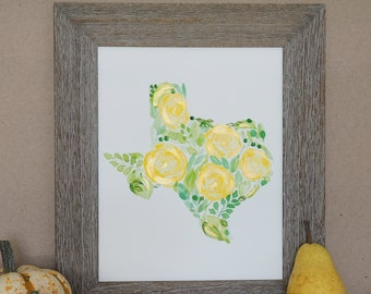 Texas Rose Yellow Etsy