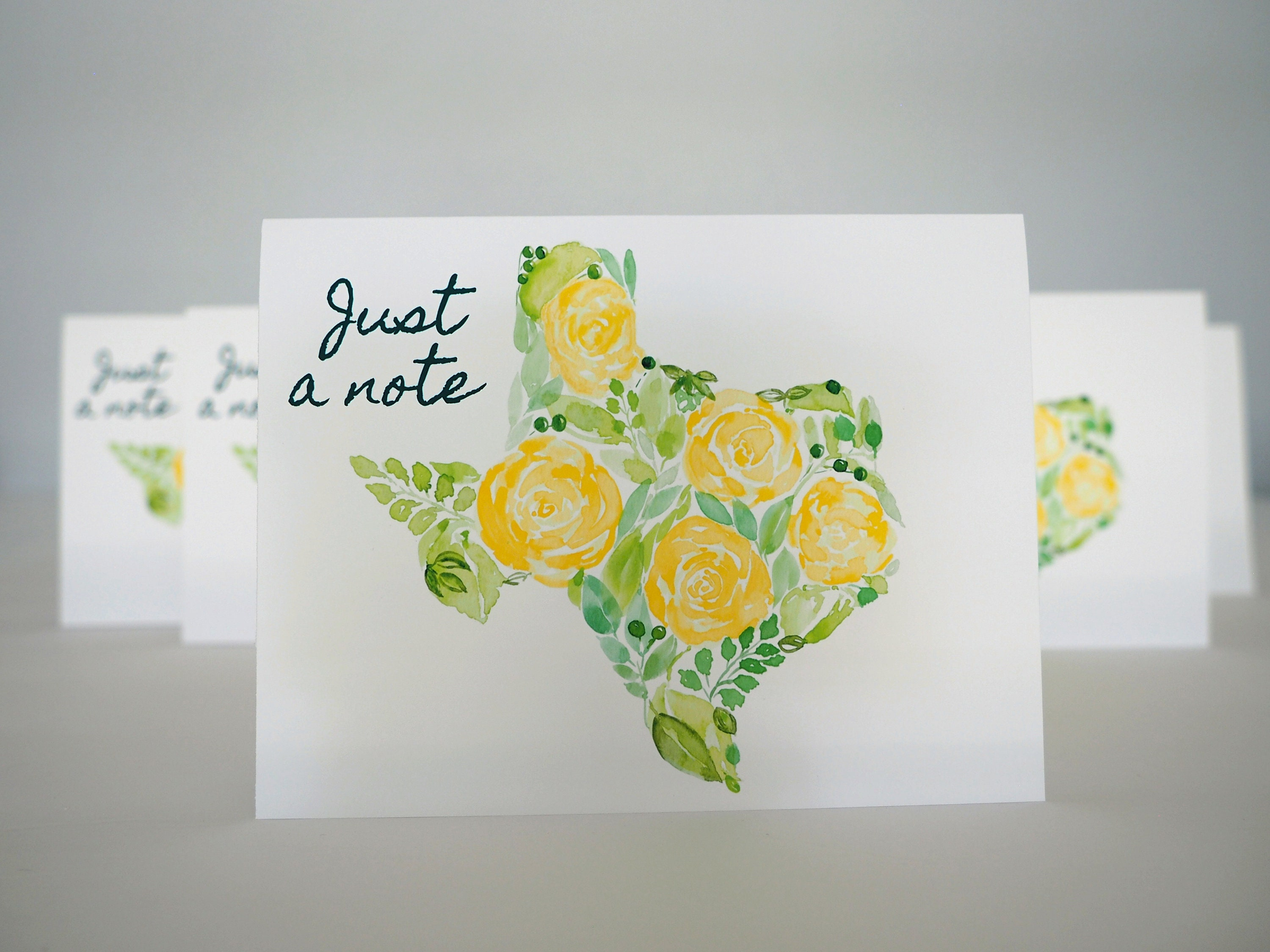Texas Note Cards Set Of Six Blank Yellow Rose Of Texas Cards Etsy