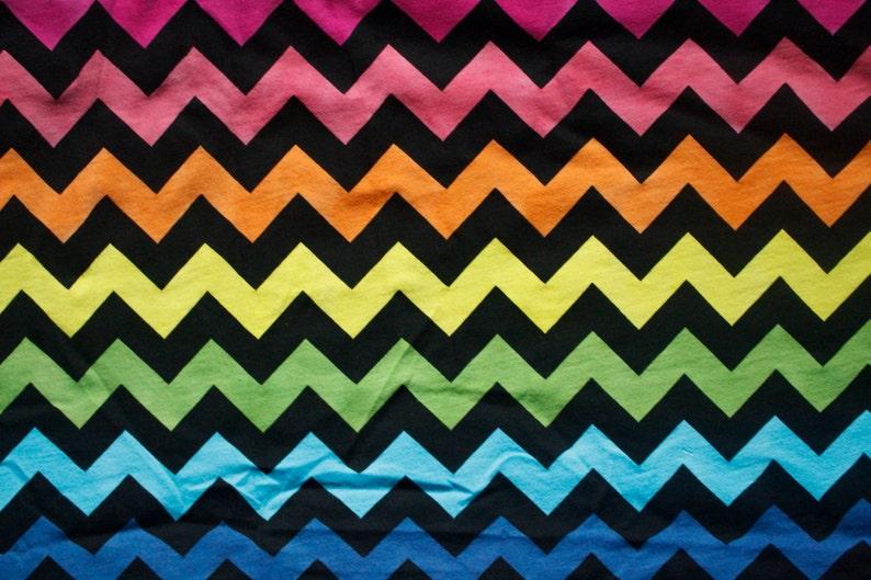 rainbow chevrons cotton Lycra yard hand painted