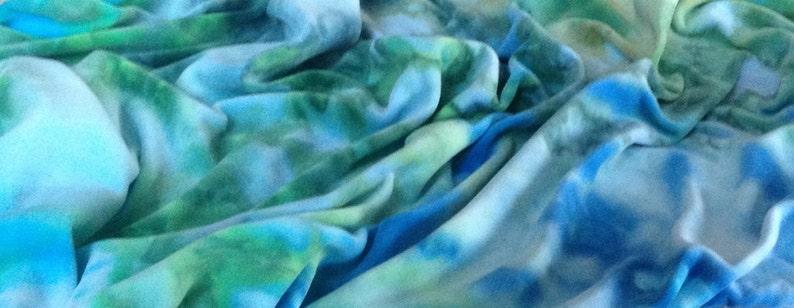 Custom ice dyed cotton velour yard
