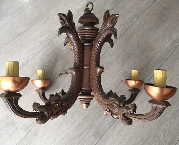 Lampadario Antico In Legno : Legno antico ferro lampada a sospensione lampadario vintage cafe