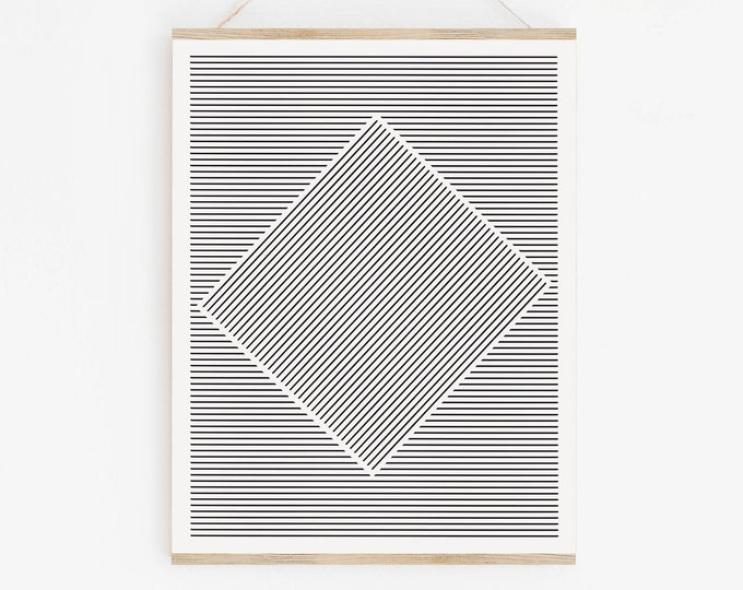 Geometric Abstract Line Art Instant Download, Minimalist Line Art Printable, Printable Poster