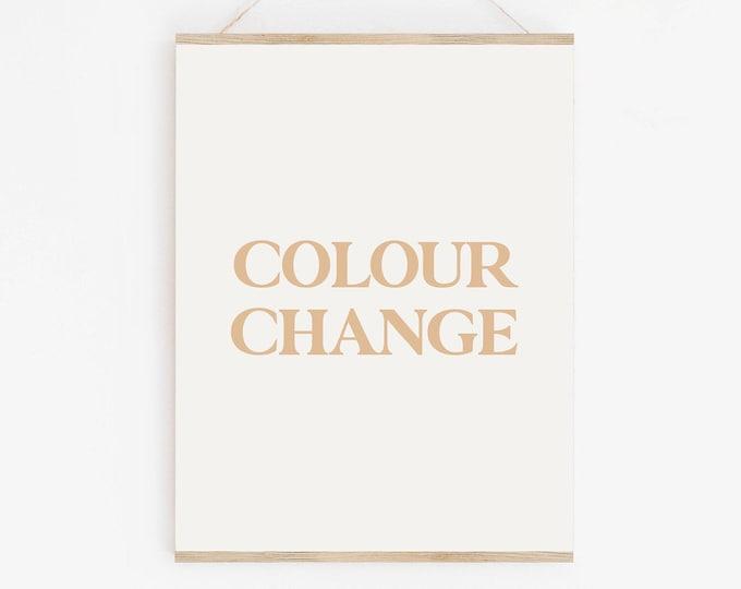 Print Colour Change, Change The Colour of Your Print
