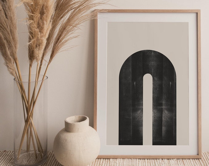 Abstract Rainbow Arches Printable, Mid Century Modern Arch Rainbow Printable Wall Art Print, Geometric Arch Print Printable Poster