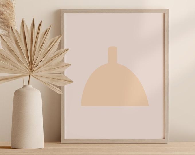 Minimalist Pot Wall Art, Abstract Boho Vase Print, Pottery Printable Instant Download