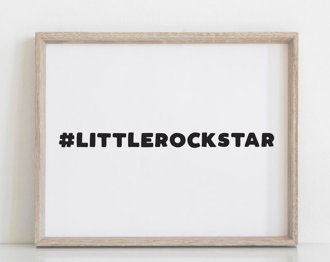 Little Rock Star Boys Nursery Decor Print, Modern Nursery Art, Scandinavian Nursery Decor, Digital Prints