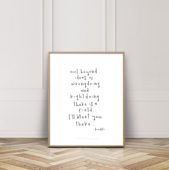 rumi quotes print out beyond ideas wall decor quote prints