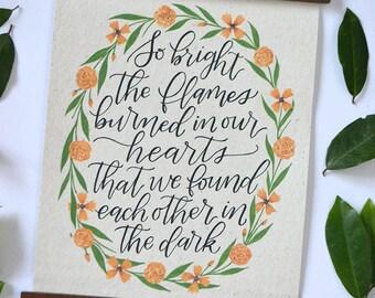 Custom Quote - Handwritten Calligraphy - Quote Art - Custom Artwork - Custom Passage - Nursery Art - Passage Lettering - Handlettered Quote