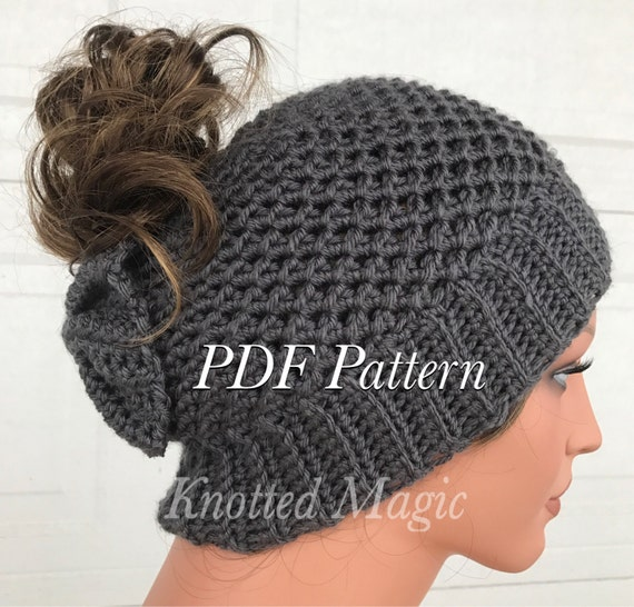 Cady Bow Bun Hat PDF Crochet Bun Hat Pattern Digital Etsy Magnificent Bun Hat Pattern