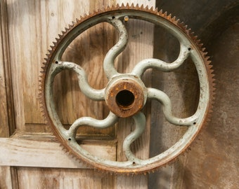Industrial Cog Wheel, Antique.