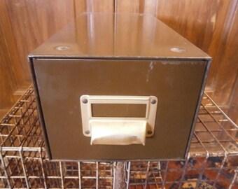 Single Drawer Desk Top Filing Cabinet - Vintage