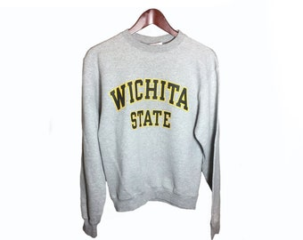 58d1369d Size S || Wichita State University Kansas Gray Champion Crewneck Sweatshirt  Size Small || WSU Shockers NCAA WuShock