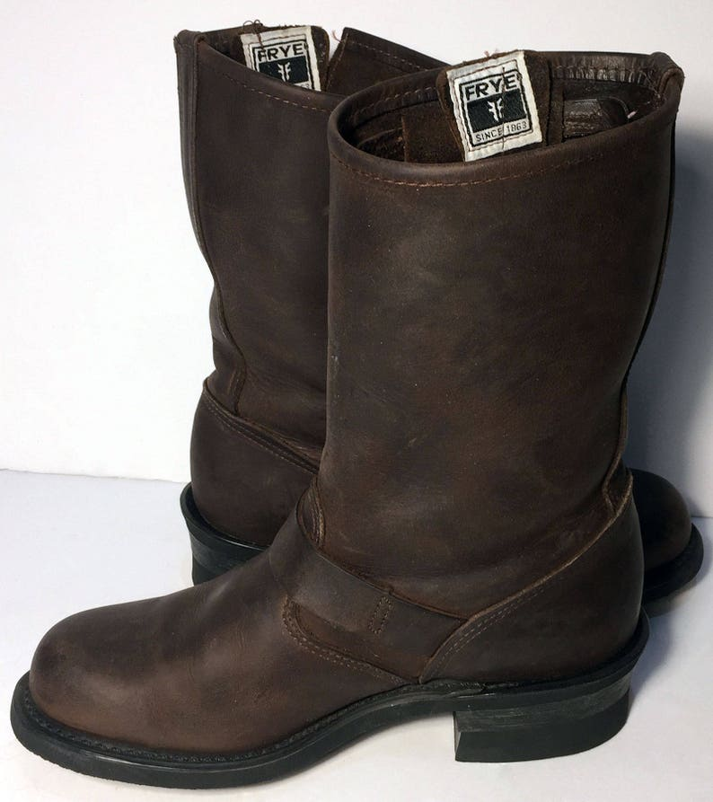 c422ead978fca Frye 77400 Engineer Brown Leather Motorcycle Boots Women's Size 7