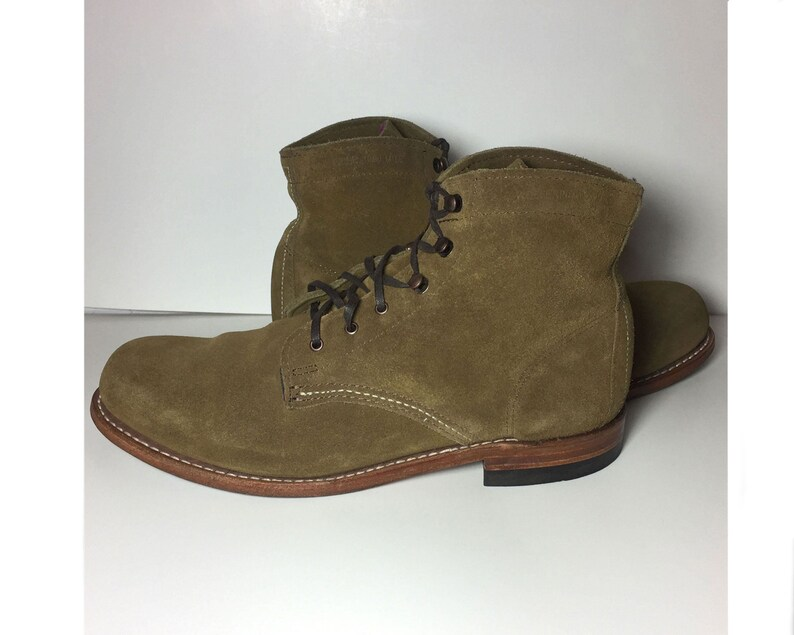 9f42eb12bcc 10 US || 40 Euro || 8 UK || Wolverine 1000 Mile Brown Suede Work Combat  Military Boots Women || Lace Up Chukka Desert boots Made in USA