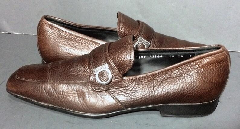 Schuhe Größe Salvatore Herren Leder Horsebit Loafer Ferragamo Braun 10 VpSzMqUG