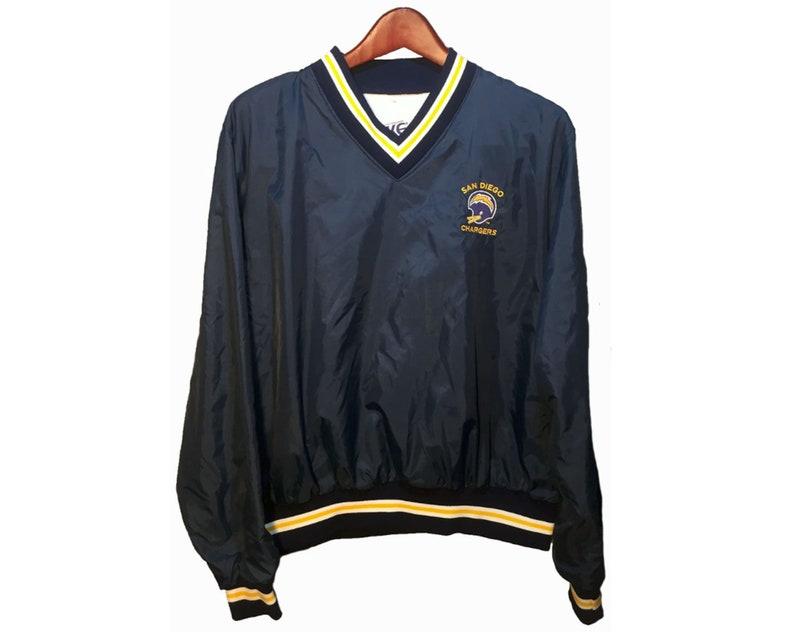 buy popular 40c25 dc761 Bike San Diego Chargers Blue Yellow Vintage 80's NFL Football Windbreaker  Jacket Men's Size 42/44 Size L Size Large