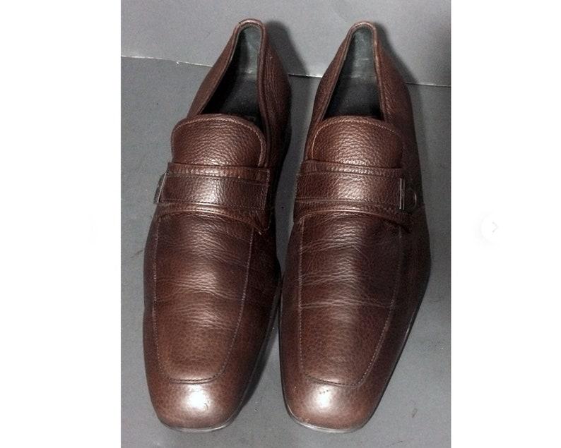 Salvatore Ferragamo Herren Schuhe 10 Leder Größe Loafer Horsebit Braun TPkuOiZwX