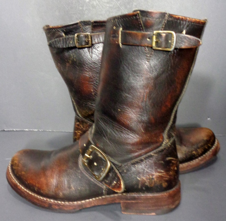 177456f9078 Frye Veronica Shortie Brown Leather Motorcycle Riding Biking Boots Women's  Size 6