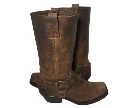 Frye 77300 Harness Brown Leather  Motorcycle Boot