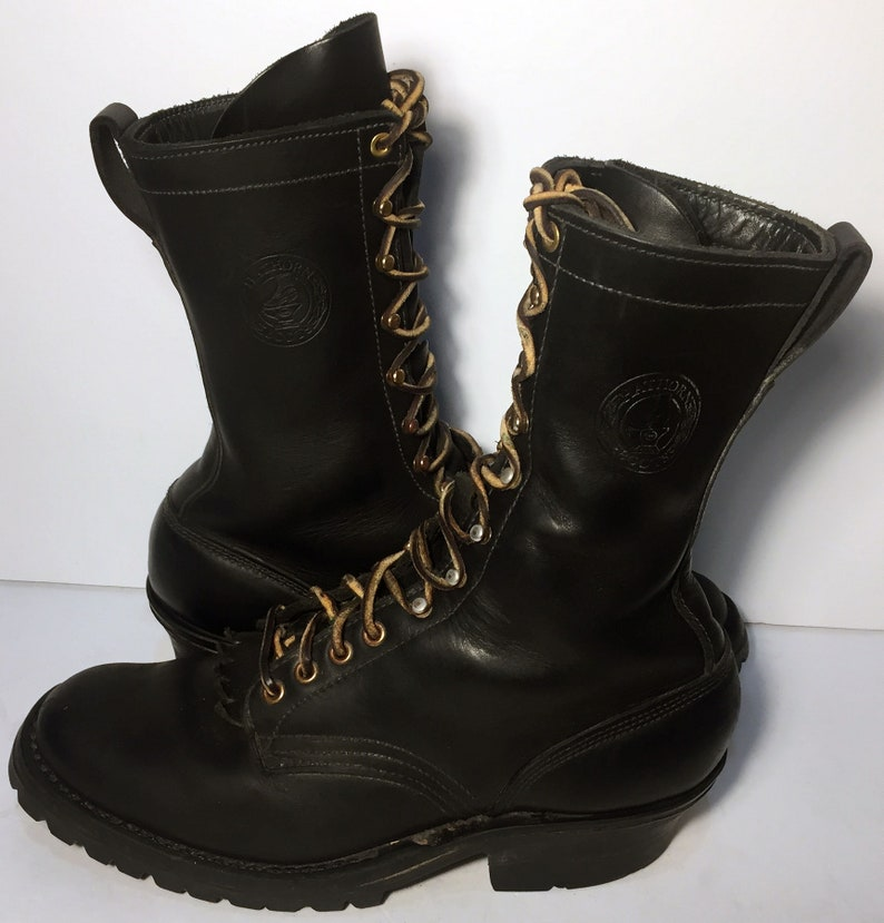208f991368e 10 US || 43 Euro || 9 UK || Hathorn Smokejumper Black Leather Military  Combat Boots Men's Size 10 D || Jump Lace Up Airborne US Army