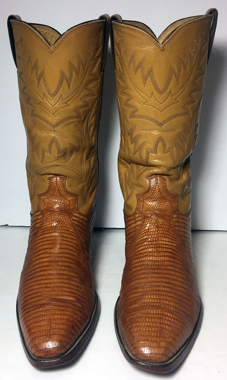 154db92f6f9 Justin Brown Lizard Exotic Leather Western Cowboy Boots Men's Size 9.5 D