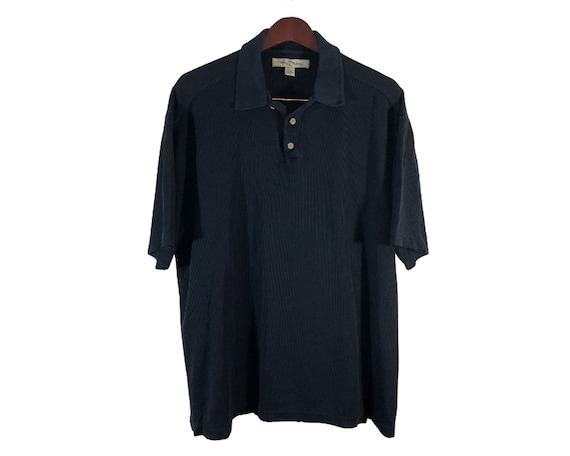 Tommy Bahama Black Silk Blend Polo Shirt Men's Siz