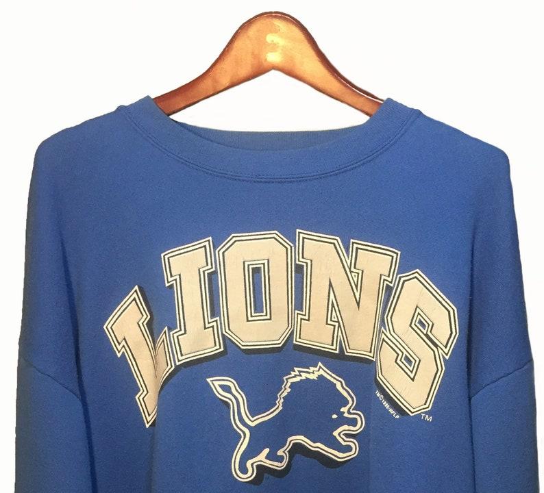 80d4be4a Size XL || Lions Blue Vintage 1990 NFL Blue Crewneck Sweatshirt Men ||  National Football League National Football Conference North Division