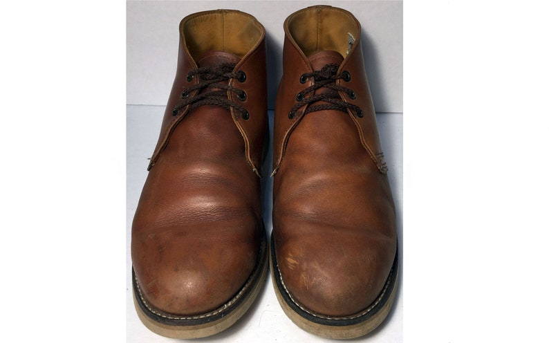 485e904ab39 12 us || 46 euro || 11 uk || Red Wing® 595 Heritage Chukka Brown Leather  Work boots Men Size 12 || Combat Military Lace Up Desert Boot USA